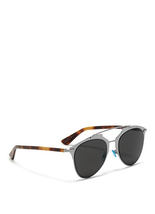 Figure View - Click To Enlarge - Dior - 'Dior Reflected' double bridge wire frame aviator sunglasses