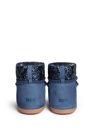 Back View - Click To Enlarge - INUIKII - 'Punc Sequin' sheepskin shearling boots