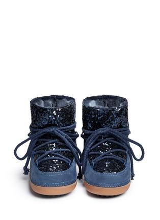 Figure View - Click To Enlarge - INUIKII - 'Punc Sequin' sheepskin shearling boots