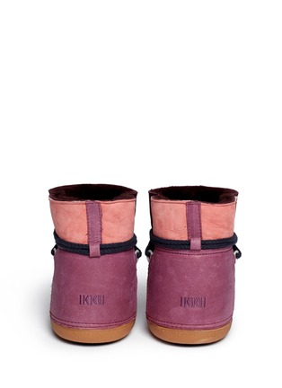 Back View - Click To Enlarge - INUIKII - 'Classic' suede patchwork sheepskin shearling boots