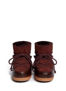 IKKII'Classic' suede sheepskin shearling moon boots