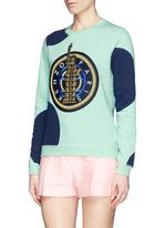 'Dots & Liberty' embroidered sweatshirt