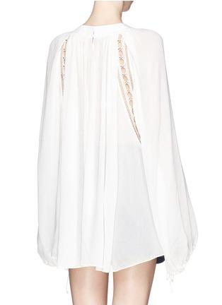 背面 - 点击放大 - CHLOÉ - Ladder stitch embroidery silk gauze blouse