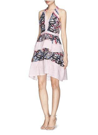 Figure View - Click To Enlarge - Peter Pilotto - Circuit V' cloqué wave jacquard peplum dress