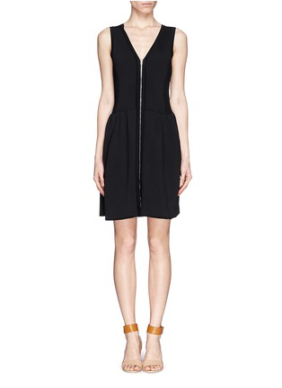 Main View - Click To Enlarge - SANDRO - 'Ravage' zip front knit dress