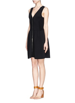 Figure View - Click To Enlarge - SANDRO - 'Ravage' zip front knit dress