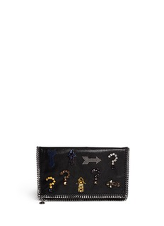 STELLA MCCARTNEY Falabella jewelled foldover clutch