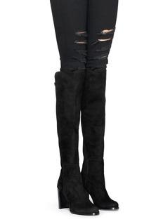 STUART WEITZMAN'Hijack' elastic back suede boots