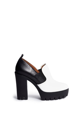 Main View - Click To Enlarge - Marc by Marc Jacobs - Colourblock chunky platform slip-ons