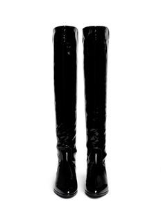 STUART WEITZMAN'Fifo' elastic back patent leather boots