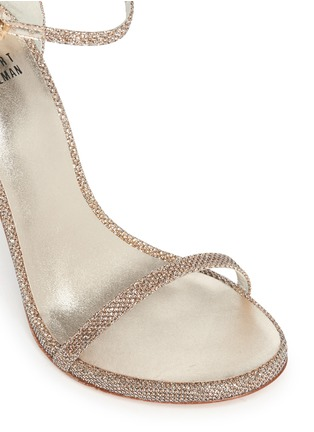 Detail View - Click To Enlarge - Stuart Weitzman - 'Nudist' lamé sandals