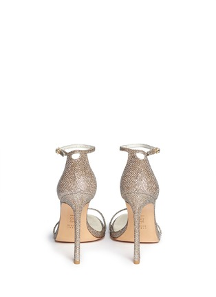 Back View - Click To Enlarge - Stuart Weitzman - 'Nudist' lamé sandals