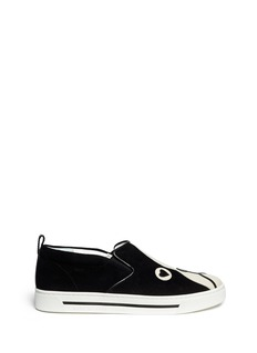 MARC BY MARC JACOBS'Friends Of Mine Shorty' dog suede slip-ons