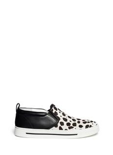 MARC BY MARC JACOBS'Cute Kicks' Spot calf hair leather slip-ons