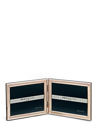 Main View - Click To Enlarge - InterSilver - The Pearl 4R double photo frame