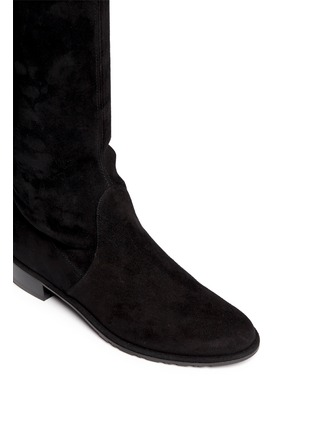 Detail View - Click To Enlarge - Stuart Weitzman - 'Lowland' knee high stretch suede boots