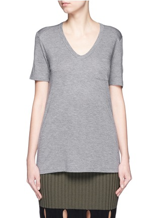 Main View - Click To Enlarge - T By Alexander Wang - Rayon jersey T-shirt