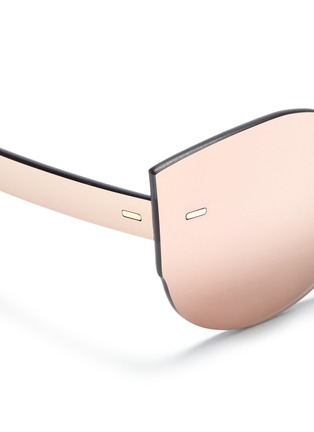 Detail View - Click To Enlarge - SUPER - 'Tuttolente Lucia Red' rimless all lens cat eye sunglasses