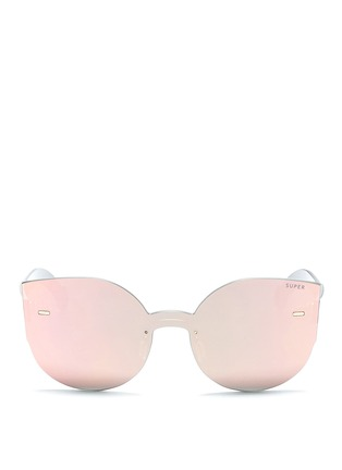 Main View - Click To Enlarge - SUPER - 'Tuttolente Lucia Red' rimless all lens cat eye sunglasses