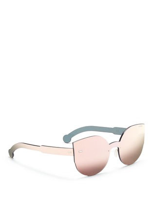 Figure View - Click To Enlarge - SUPER - 'Tuttolente Lucia Red' rimless all lens cat eye sunglasses
