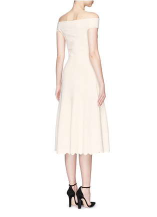 Back View - Click To Enlarge - Alexander McQueen - Lace jacquard off-shoulder dress