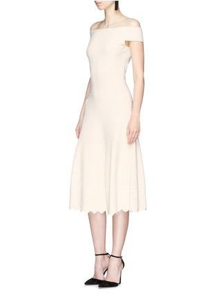 Figure View - Click To Enlarge - Alexander McQueen - Lace jacquard off-shoulder dress