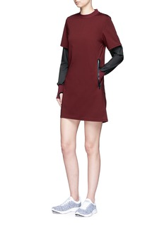 Particle Fever Windbreaker sleeve underlay jersey dress