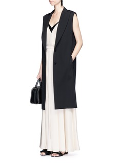 Lanvin Padded shoulder tailored oversized long vest