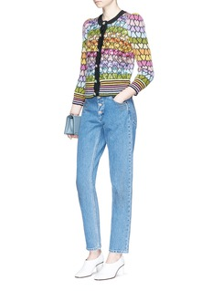 Marc Jacobs Sequin heart jacquard cardigan