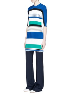 Ports 1961 Stripe rib knit dress