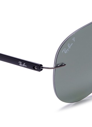 Detail View - Click To Enlarge - Ray-Ban - 'Classic Aviator' metal sunglasses