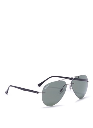 Figure View - Click To Enlarge - Ray-Ban - 'Classic Aviator' metal sunglasses