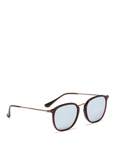 Ray-Ban 'RB2448NF' flat square acetate sunglasses