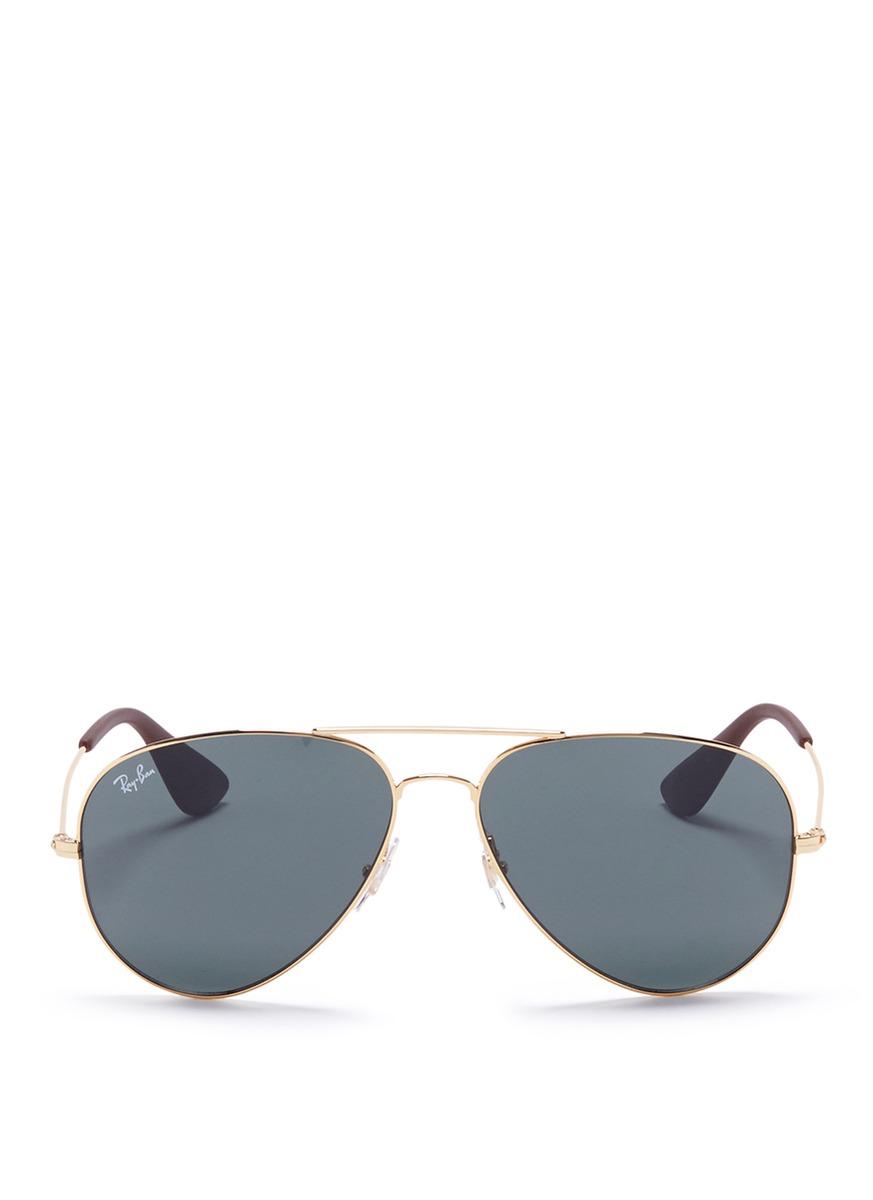 RB3558 metal aviator sunglasses by Ray-Ban