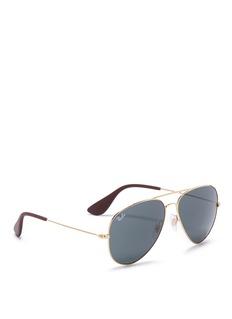 Ray-Ban 'RB3558' metal aviator sunglasses