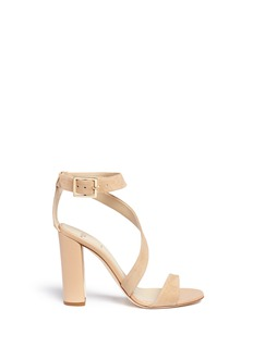 Alexander White'Demi' asymmetric strap suede sandals
