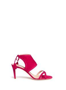 Alexander White'Hanna' tassel tie suede sandals