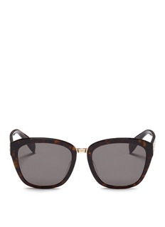 Alexander McQueen Metal bridge tortoiseshell acetate square sunglasses