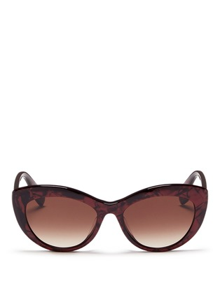 Main View - Click To Enlarge - Alexander McQueen - Shell effect acetate cat eye sunglasses