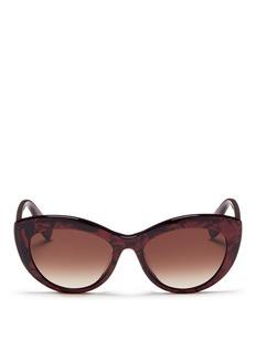 Alexander McQueenShell effect acetate cat eye sunglasses