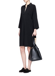 Vince Drop shoulder crepe dress