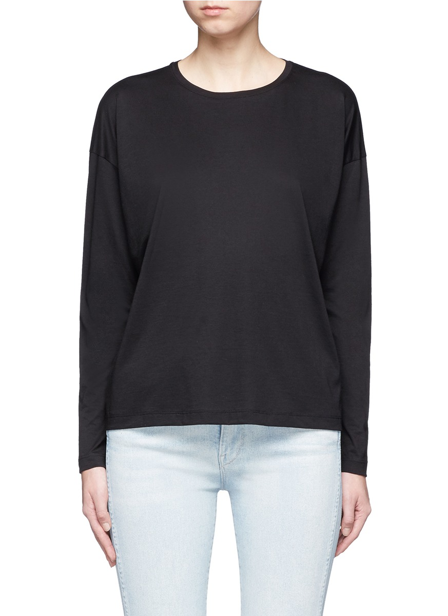 Pima cotton jersey long sleeve T-shirt by Vince