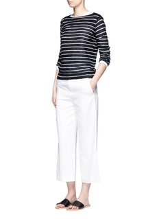 Vince Stripe boat neck cashmere sweater
