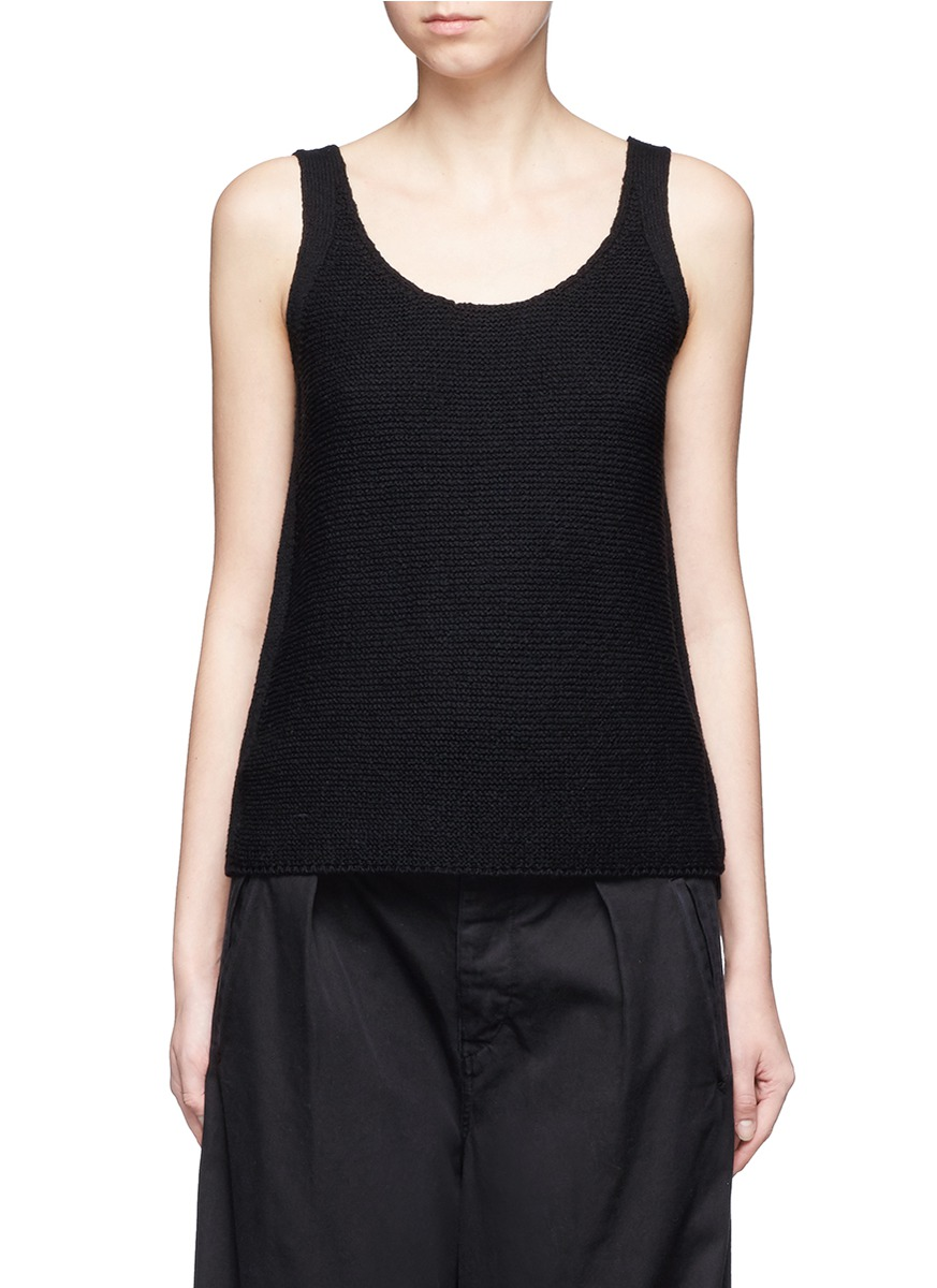 Scoop neck cotton knit tank top by Vince