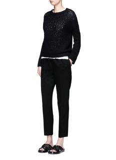 VinceWool blend open knit sweater