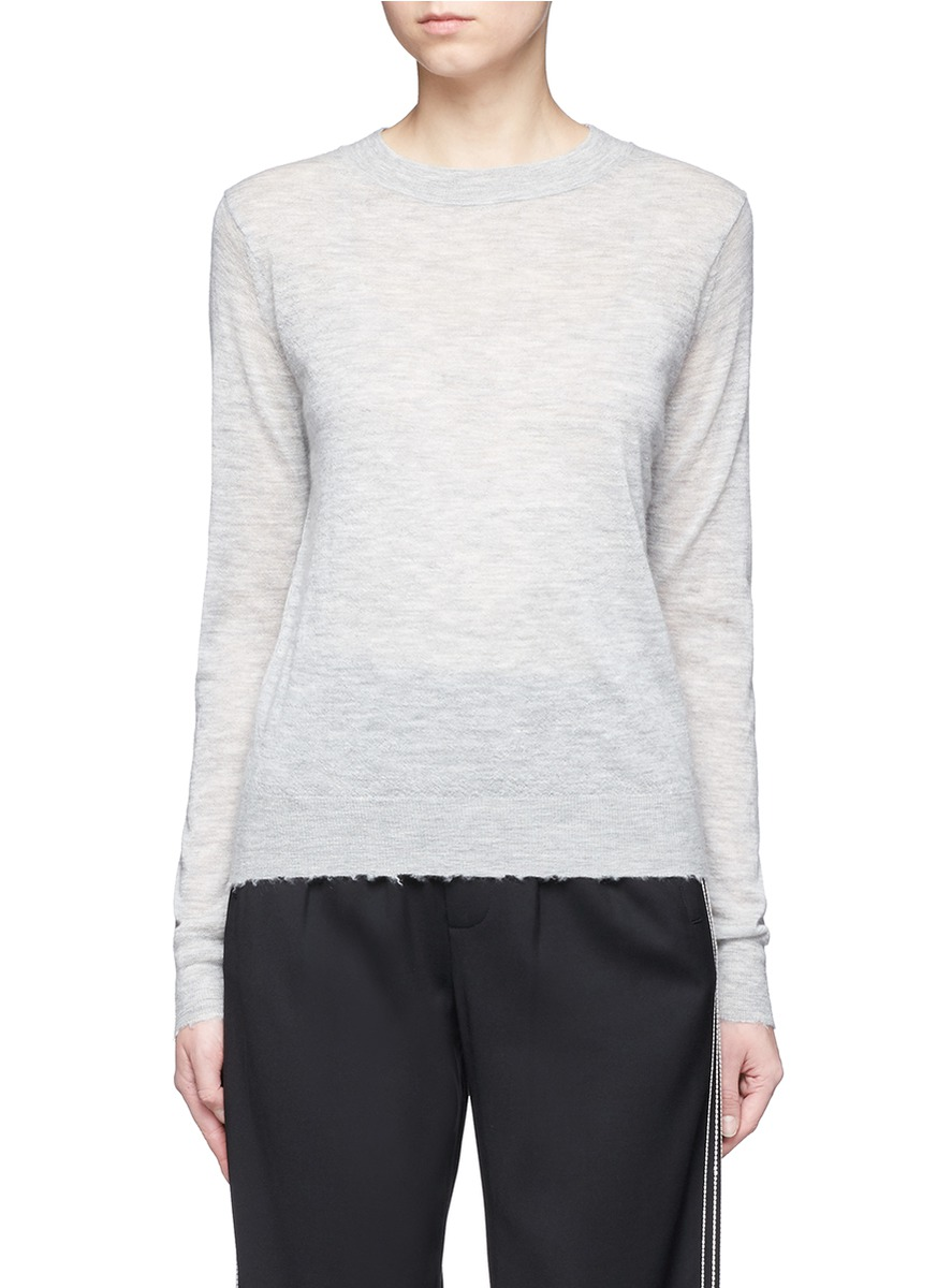 Distressed edge cashmere sweater by Vince