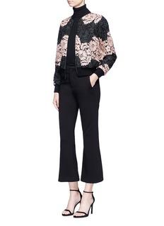 alice + olivia'Felisa' floral guipure lace bomber jacket