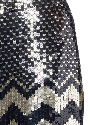 Detail View - Click To Enlarge - alice + olivia - 'Elana' sequin chevron mini skirt