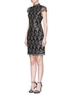 alice + olivia'Marya' floral embroidered tulle dress