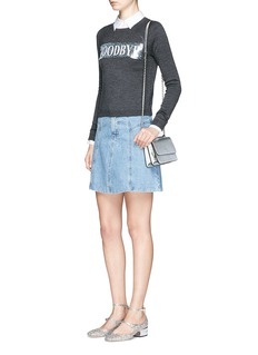 alice + olivia'Hello Goodbye' slogan wool sweater